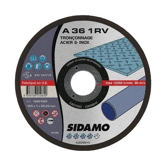 SIDAMO - 25 DISQUES À TRONÇONNER A 36 1RV D.115X22,23X1MM