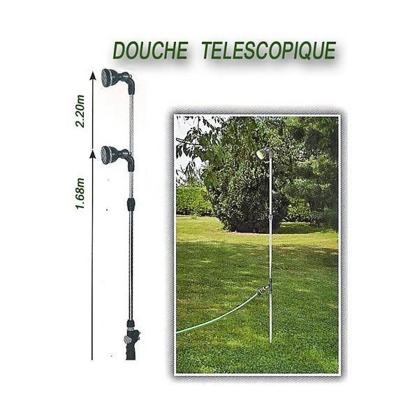 DOUCHE DE JARDIN ET PISCINE - TELESCOPIQUE 2.20M