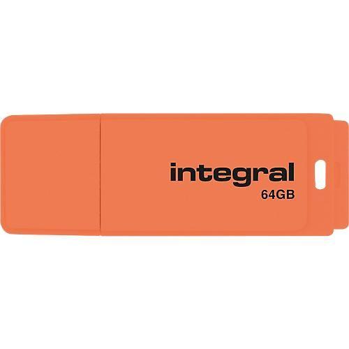 CLÉ USB INTEGRAL NÉON 64 GO ORANGE