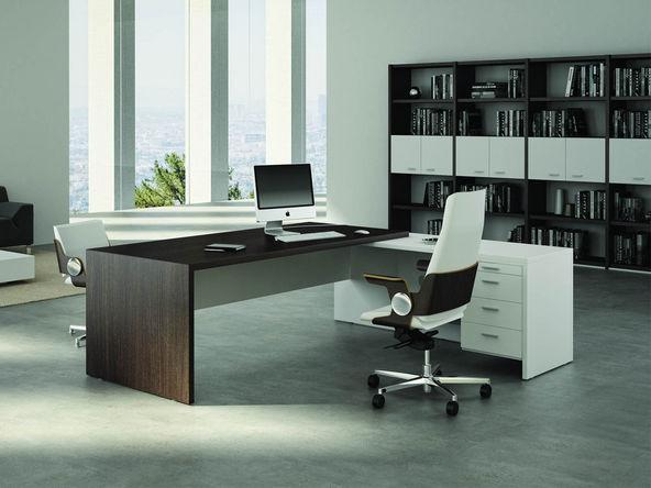 Bureau bois et métal design contemporain la manufacture nouvelle