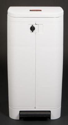 RUBBERMAID COLLECTEUR DE DÉCHETS EN PLASTIQUE, À PÉDALE - POUR SAC DE 120 L - BLANC PROCHE RAL 9003