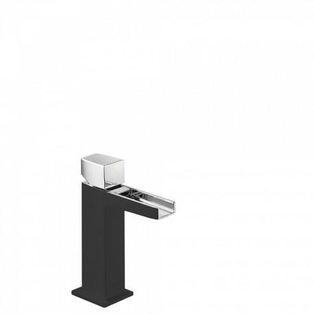 MITIGEUR LAVABO ROBINET CASCADE BEC OUVERT - TRES 20211002NED NOIR/CHROMÉ