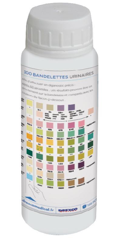 BANDELETTE URINAIRES 10 PARAMÈTRES MEDICLINIC