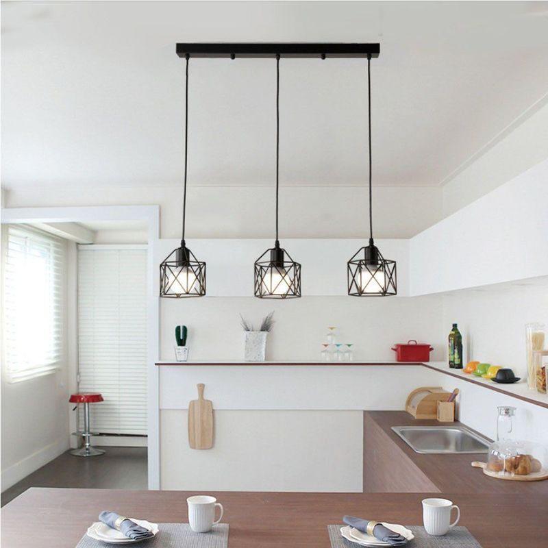 Stoex Suspension Industrielle Vintage Lampe Lustre Abat Jour