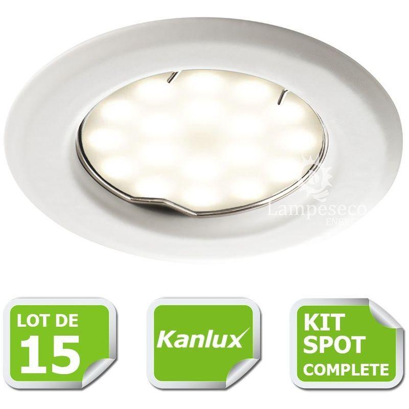 Blanc Kit Encastrable Spots Marque Avec Gu10 De 15 Kanlux Complete wXlPkiuOTZ