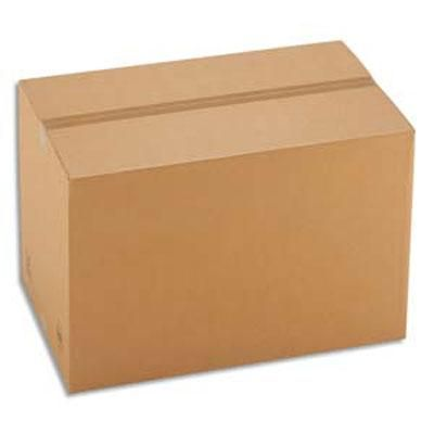 CAISSE CARTON BRUNE - SIMPLE CANNELURE - 41 X 31 X 24 CM - LOT DE 25