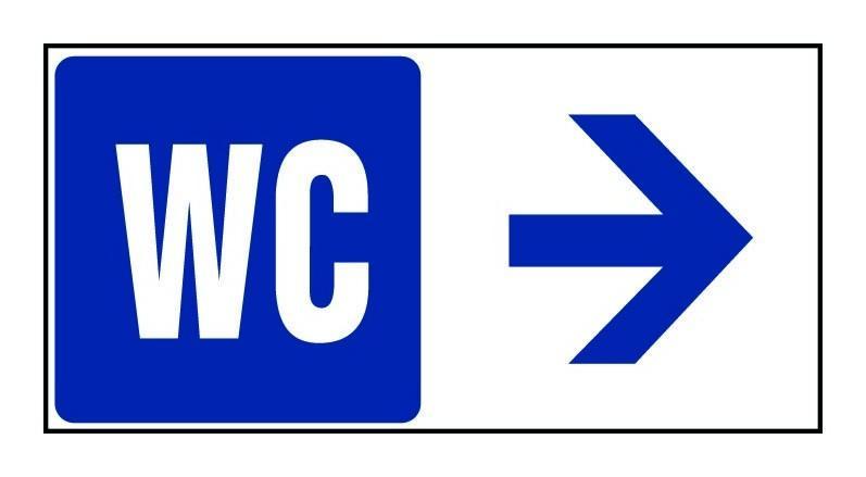 PANNEAU WC FLÈCHE À DROITE - RIGIDE 960X480MM - 4000213 - NOVAP
