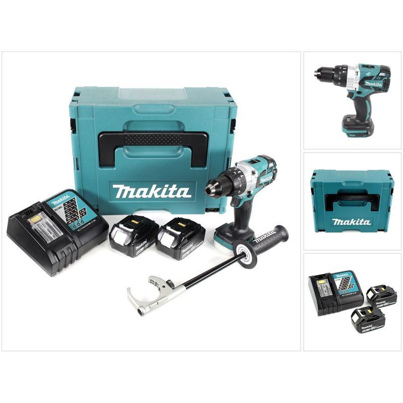 PERCEUSE VISSEUSE À PERCUSSION 18V LXT 2X4.0AH LI-ION - MAKITA DHP481RMJ