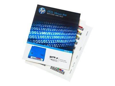 HPE LTO-5 ULTRIUM RW BAR CODE LABEL PACK - ÉTIQUETTES CODE À BARRES - POUR HPE MSL2024, MSL4048, MSL8096, LTO-5 ULTRIUM, STOREEVER MSL4048 LTO-5, MSL6480