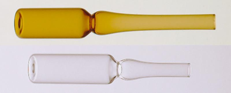 Ampoule autocassable ambrée 1 ml en verre borosilicaté
