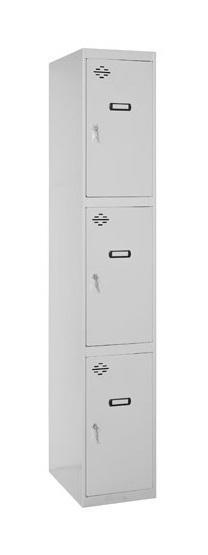 SIMONRACK - ARMOIRE DE VESTIAIRE 3 CASIERS (1 COLONNE DE 3 PORTES) 1800X300X500 MM (MODÈLE ADDITIONEL)