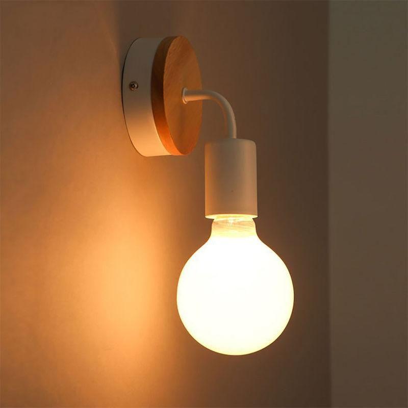 2PCS MODERNE LAMPE MURALE E27 ECLAIRAGE DECOR APPLIQUE BLANC - AXHUP