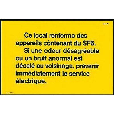 AFFICHE PRÉSENCE DE SF6 CATU