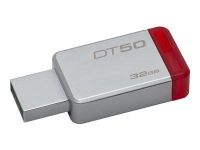KINGSTON DATATRAVELER 50 - CLÉ USB - 32 GO - USB 3.1 - ROUGE