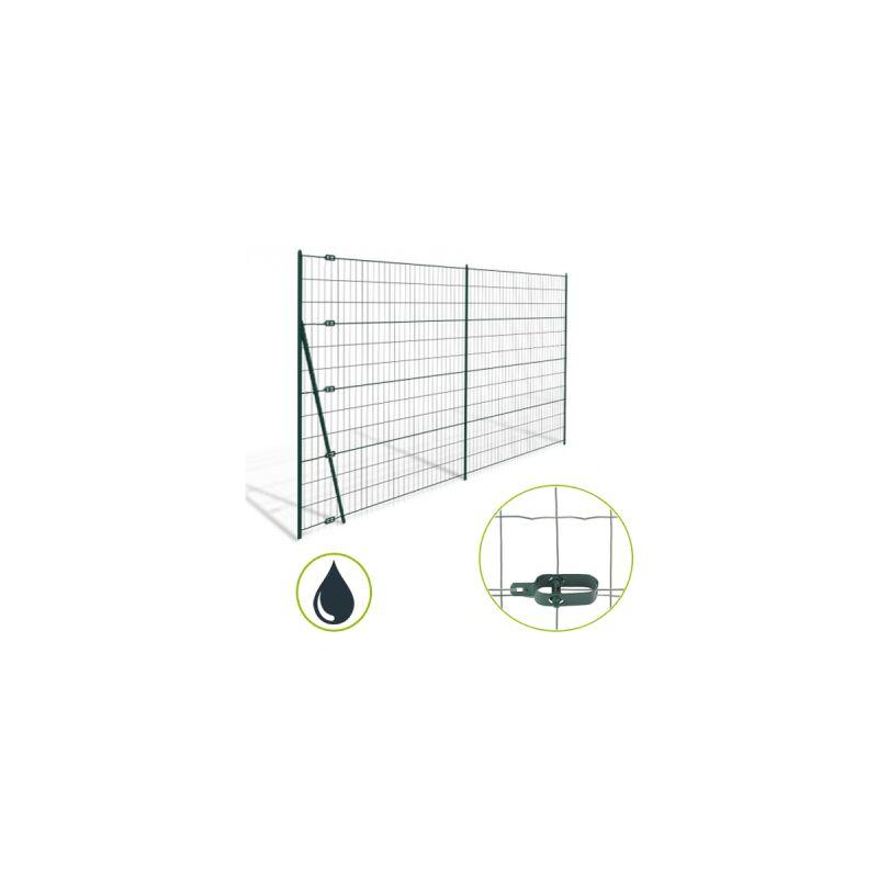 KIT GRILLAGE SOUDÉ GRIS 100M - MAILLE 100X75MM - 1 MÈTRE - CLOTURE & JARDIN