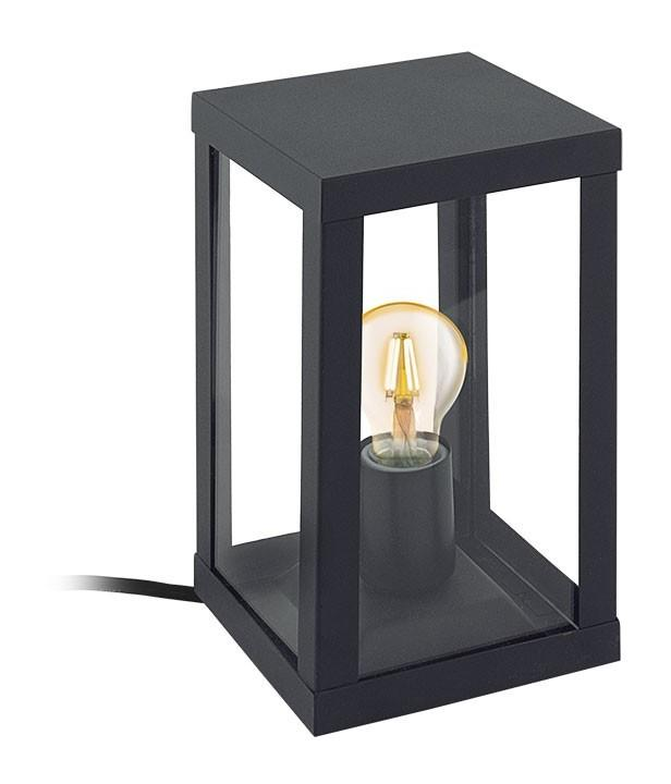LAMPE À POSER EXTÉRIEUR ALAMONTE 1 IP44 NOIR MAT - EGLO