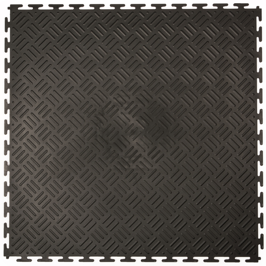 DALLES PVC CHECKER NOIR