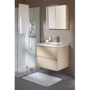 Meuble 70 Cm 1 Vasque Table Blanche Armoire De Toilette Bois