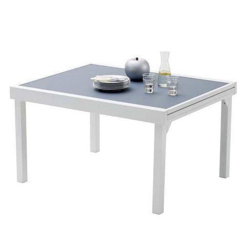 TABLE DE JARDIN 135/270 MODULO 10 PLACES BLANCHE/ GRIS PERLE ...