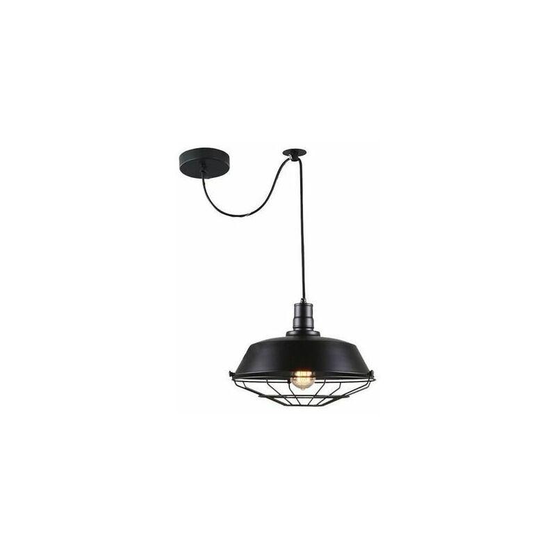 Suspension Retro Vintage Lustre Plafonnier Exbon Lampe Luminaire
