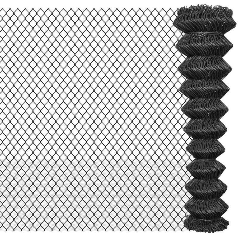CLÔTURE GRILLAGÉE 15 X 1,95 M ACIER GRIS - VIDAXL