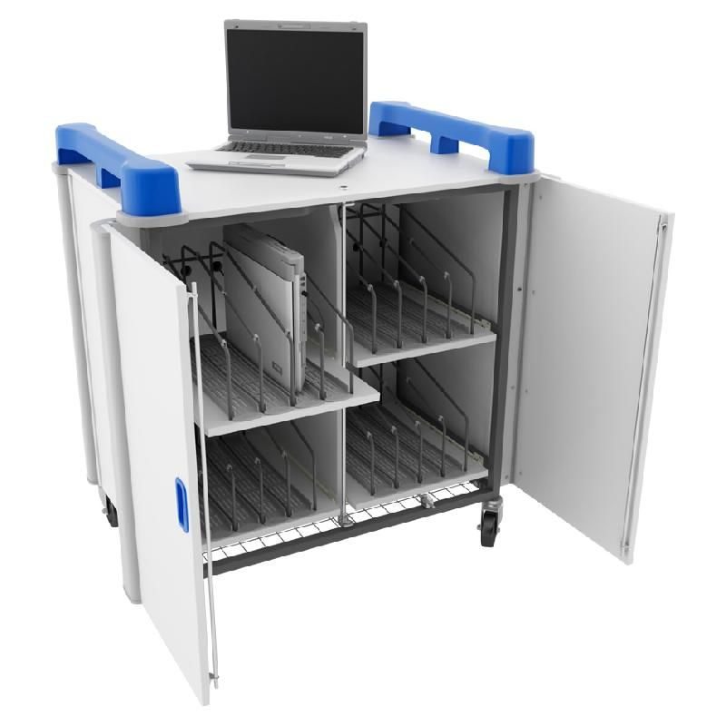 STATION MOBILE STOCKAGE/RECHARGE P/16 NOTEBOOK LAPCABBY 16V READY