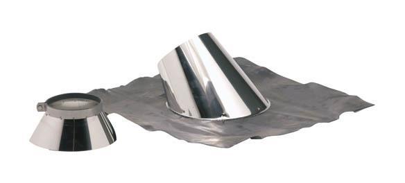 SOLIN PLOMB POUR PENTE DE 30 A 45° O180-230+COLLET INOX - TEN