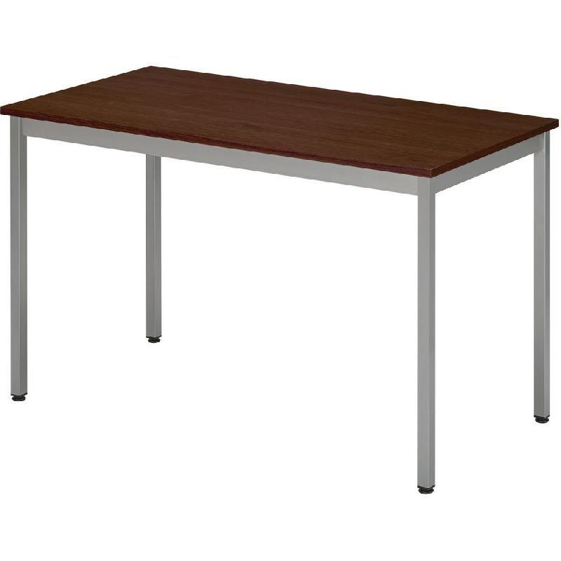 Table Tendance L120 P60 Cm X Plateau Wengé Domino Rectangle CxrdBeWo