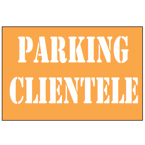 POCHOIR PARKING CLIENTÈLE