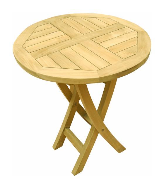 TABLE DE JARDIN EN TECK PLIABLE Ø 60 CM - BISTROT - TECK\'ATTITUDE ...
