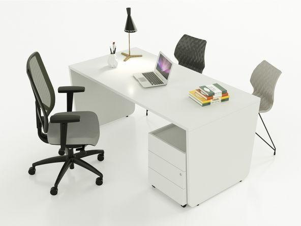 Bureau individuel bois blanc pas cher design comparer les prix de