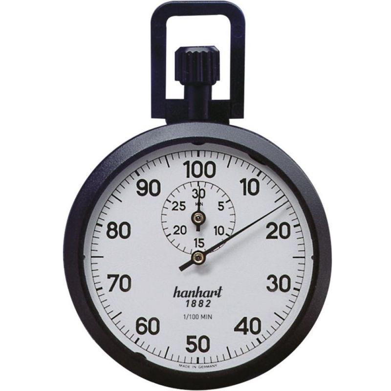 CHRONOMÈTRE DE PRÉCISION À COURONNE 1/100 SEC. 30 MIN. HANHART - BELOH