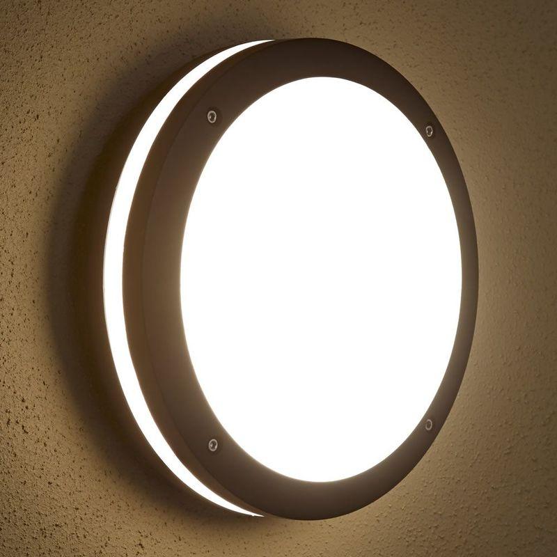 BIARD - APPLIQUE EXTÉRIEURE LED HUBLOT - LUMINAIRE ÉCLAIRAGE JARDIN - 9W  E27- ÉCONOME EN 9d6f9a7669b5