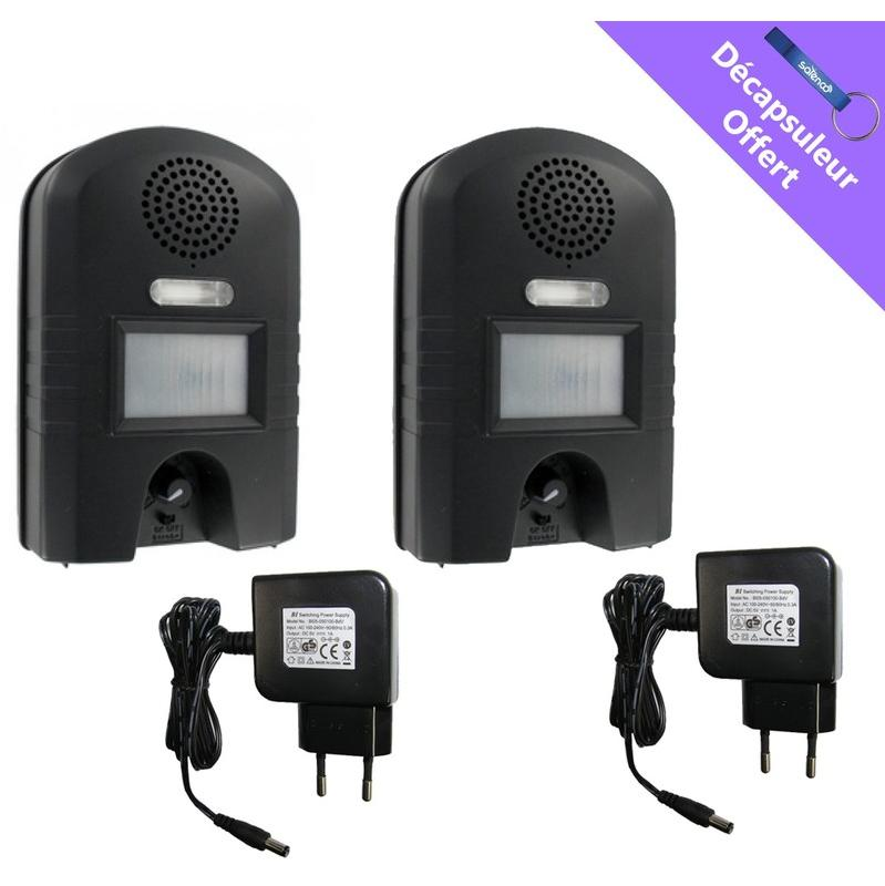 PACK 2X GARDEN PROTECTOR 2 WK0052 + CHARGEUR 220V - WEITECH