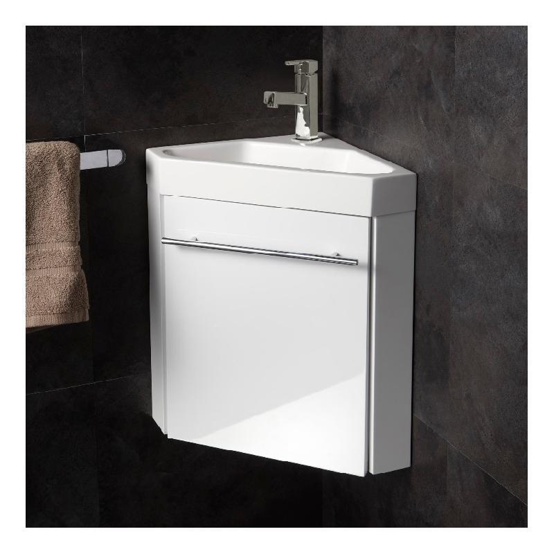 Lave Mains Dangle Avec Meuble Complet Blanc Brillant Et Mitigeur