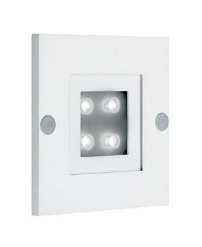 APPLIQUE MURALE DE BALISAGE ENCASTRÉE LED ISO 80 - 1W - 6500K - BLANC - ARIC
