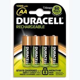 DURACELL BLISTER DE 4 ACCU RECHARGEABLES 2/HR6 1,2VOLT 2450MAH+CCR