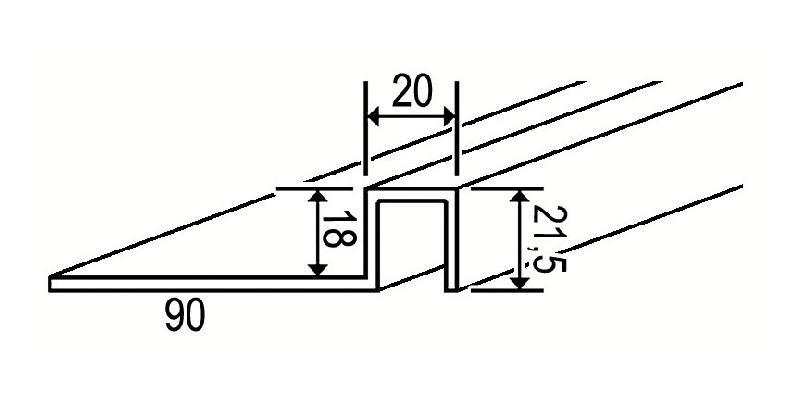 SEUIL DE PORTE ANTI-PINCE STANDARD MARRON 1500 MM AF487555 MARRON 1500 MM AF487555 - SERRURERIE DE CARNELLE