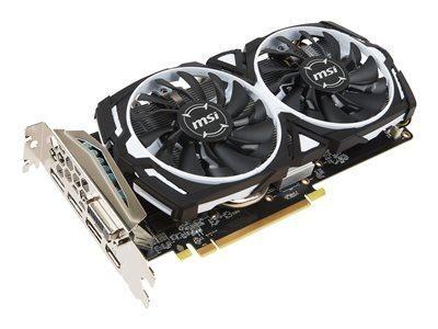 MSI RX 570 ARMOR 8G OC - CARTE GRAPHIQUE - RADEON RX 570 - 8 GO GDDR5 - PCIE 3.0 X16 - DVI, HDMI, 3 X DISPLAYPORT - NOIR, BLANC