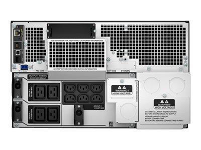 APC SMART-UPS SRT 8000VA RM - ONDULEUR (RACK-MONTABLE) - CA 230 V - 8000 WATT - 8000 VA - ETHERNET 10/100, USB - CONNECTEURS DE SORTIE : 14 - 6U - NOIR
