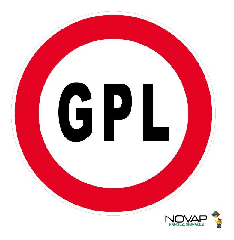 PANNEAU INTERDIT AUX GPL - RIGIDE Ø450MM - 4081168 - NOVAP