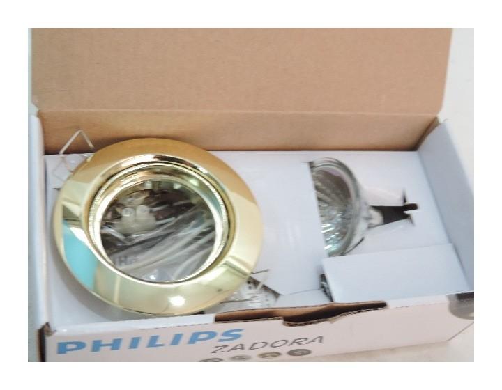 Kit spot encastrÉ Ø mm dorÉ orientable avec lampe halogÈne w