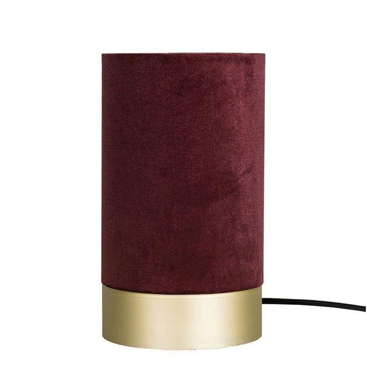 Lampe À Globen Lighting H26cm Bordeaux Velvet Veloursmétal Poser NwynPm80Ov