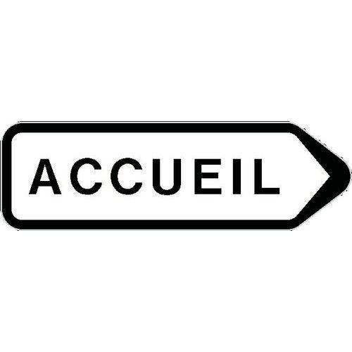 PANNEAU DIRECTIONNEL GRANDE HAUTEUR STANDARD - ACCUEIL - LONGUEUR 800 MM