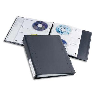 JEU DE 5 POCHETTES PLASTIFIÉES POUR CD/DVD - CAPACITÉ 5 X 4 CD/DVD