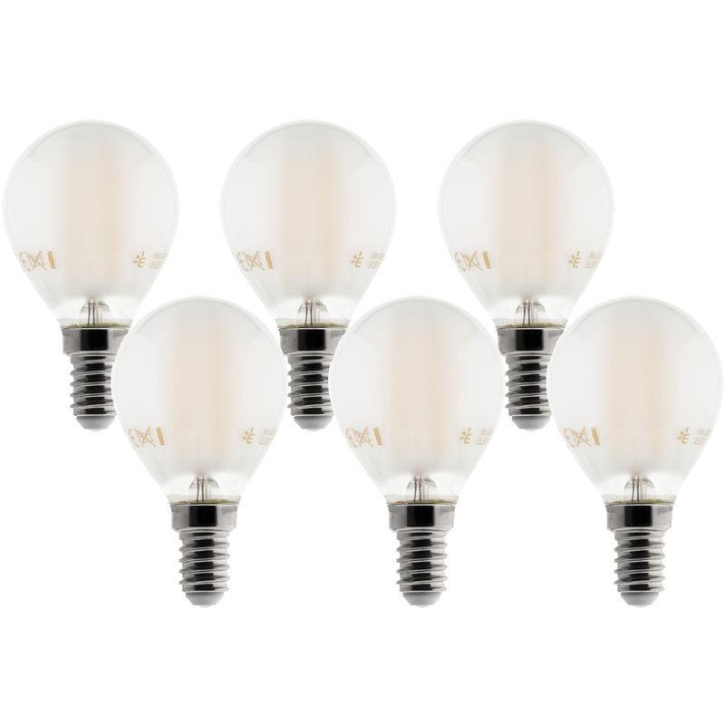 Sphérique Filament E14 De 6 Led Ampoules Dépoli 400lm Déco 4w Lot pUMVSqz