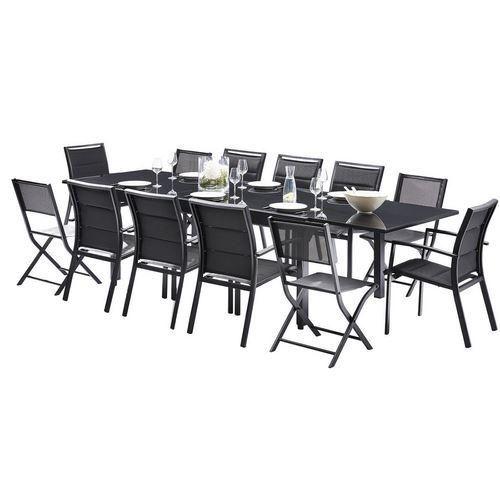 ENSEMBLE MODULO FULL VERRE NOIR T8/12+F8+C4 TABLES & ENSEMBLES MODULO VERRE NOIR