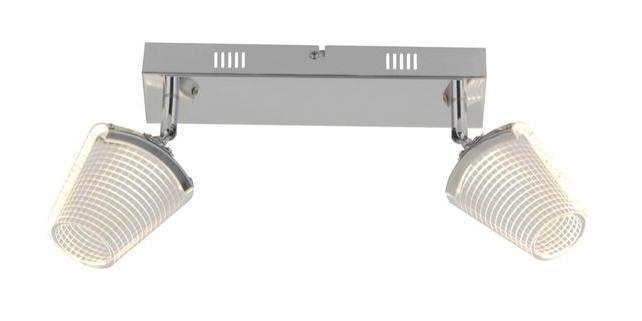 Led Lo Lampes Chrome 2 Acrylique Kristal Verre Spots Métal Design y7gYb6f