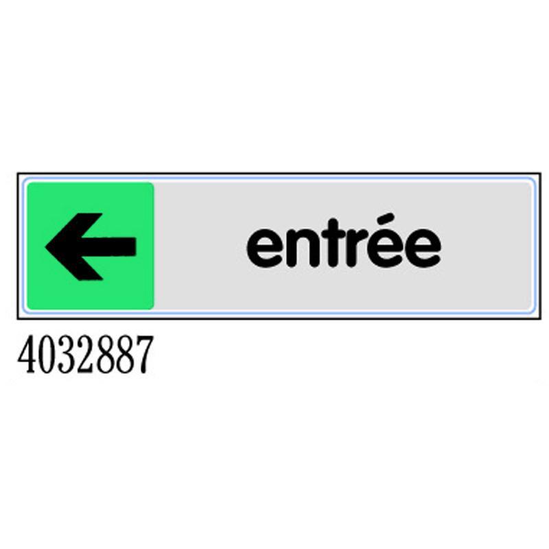PLAQUETTE ENTRÉE FLÈCHE GAUCHE - PLEXIGLAS COULEUR 170X45MM - 4032887 - NOVAP