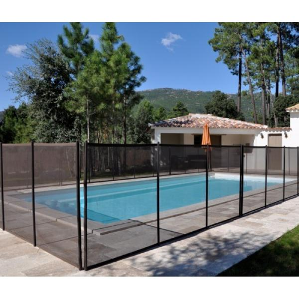 CLÔTURE PISCINE SOUPLE BEETHOVEN FILET NOIR PRESTIGE SECTION 3M ...